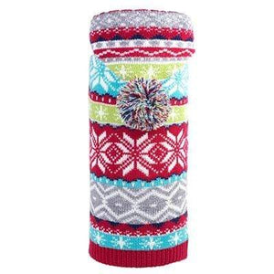 Pet Stop Store xxs Christmas Fairisle Hoodie Sweater for Dogs