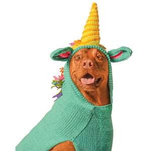 Pet Stop Store xxs Green Handmade Unicorn Dog Hoodie