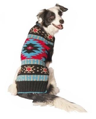 Handmade Black Southwest Dog Sweater