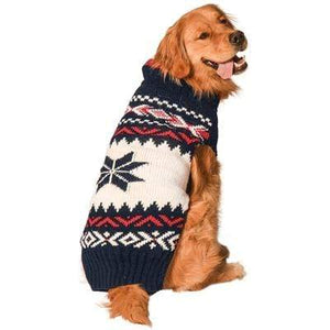 Navy Vail Handmade Holiday Dog Sweater at Pet Stop Store