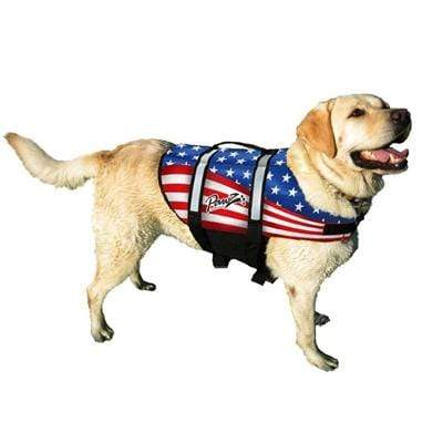 Patriotic American Flag Pet Life Jacket Vest for Dogs All Sizes