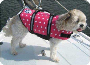 Pet Stop Store xxs Pink Polka Dot Designer Inspired Life Jacket for Dogs