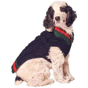 Pet Stop Store xxs Preppy Navy Handmade Varsity Dog Sweater