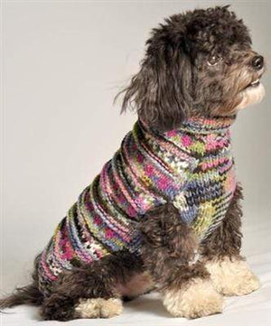 Pet Stop Store xxs Purple WoodStock Handmade Cable Knit Dog Sweater