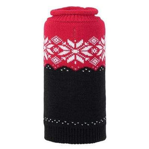 Pet Stop Store xxs Ski Lodge Red & Black Dog Sweater