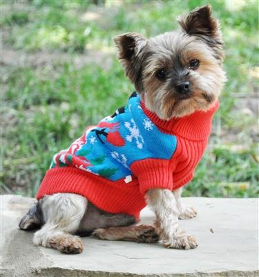"Snowman Holiday ""Ugly"" but Cute Dog Sweater"