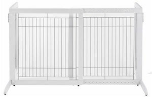 Richell Small Cool Breeze Freestanding Pet Gate - Tall