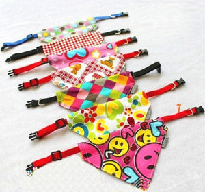 Uber Cute Adjustable Dog Collar Puppy Canvas Bandana Collar for Dogs