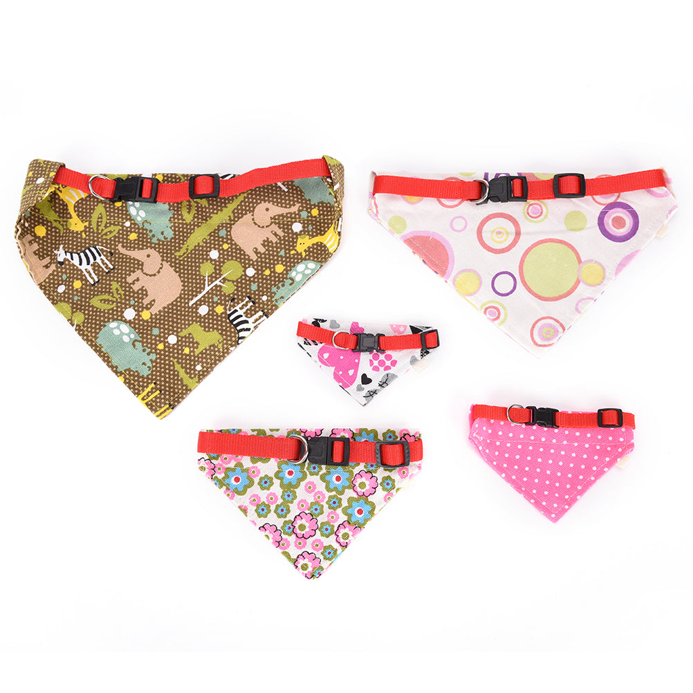 Size XS-XL Dog Bandana Neckerchief