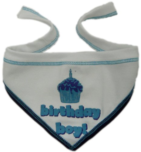 I See Spot's Pet Scarf Bandanna, Birthday Boy, Large, White