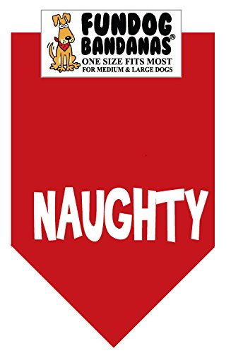 Naughty (Christmas) for Medium to Large Dogs - red