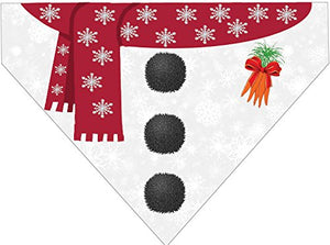 Christmas Over the Collar Dog Bandana - Snowman