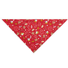 "Festive Holiday Dog Bandanas Winter Seasonal Christmas 19"" Square 2 Patterns"