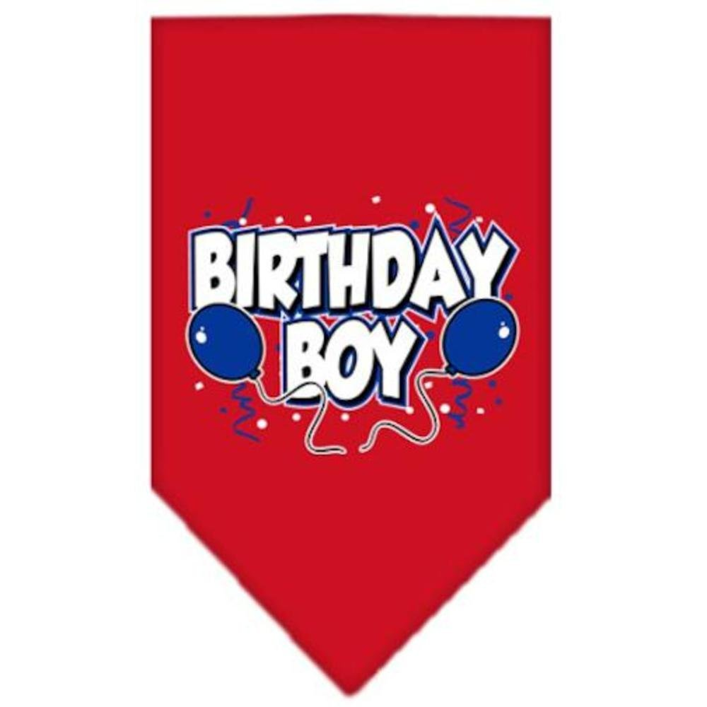 Mirage Pet Products Birthday Boy Screen Print Bandana for Pets, Large, Red
