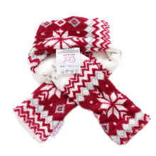 Patgoal Pet Christmas Scarf Dog Warm Snowflake Pattern Scarf Costume for Dogs and Cats