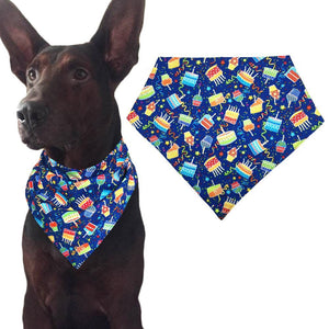 Blue Dog Birthday Bandana - Cake