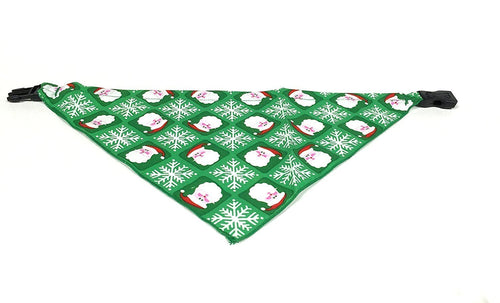 Medium Santa and Snowflakes Christmas Dog Bandanna