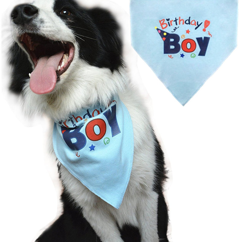 Dog Birthday Bandana Pet Scarf