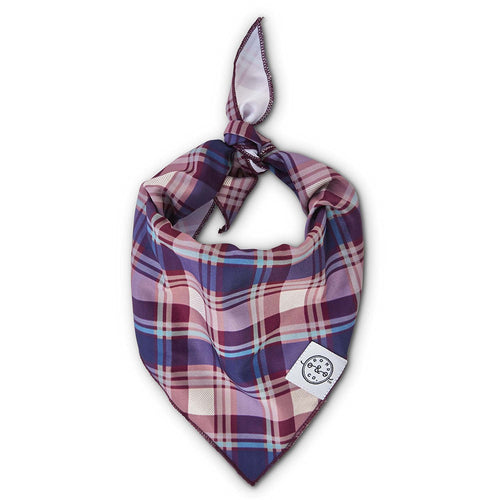 Bond & Co. Burgundy Plaid Dog Bandana