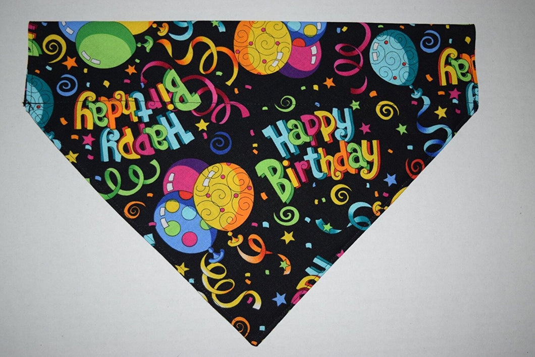 SMALL Happy Birthday Pet SLIP THROUGH COLLAR BANDANA FOR YOUR SMALL DOG OR KITTEN