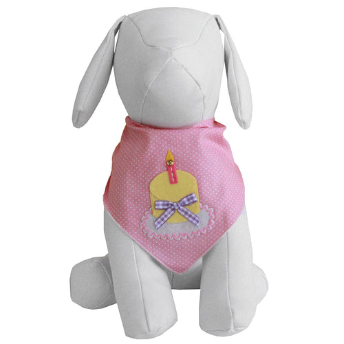 Birthday Girl Dog Bandana (Medium)