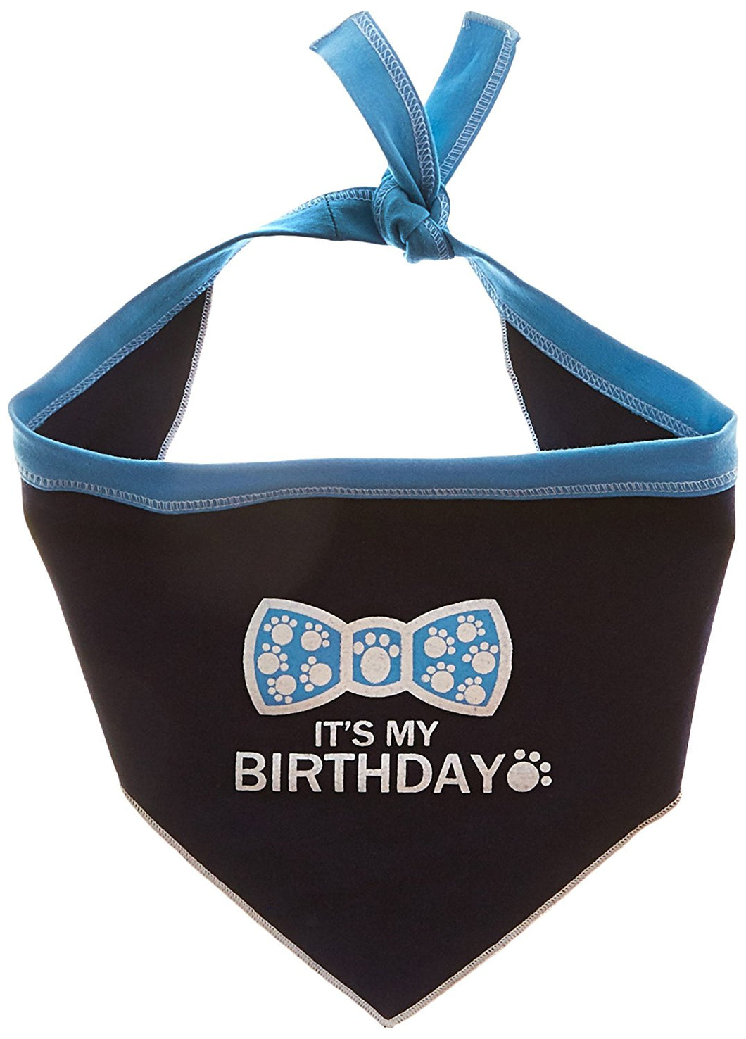 I See Spot It's My Birthday Pet Bandana Scarf in Navy
