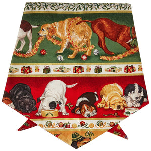 Designer Duds for Dogs X-Mas Puppies Bandana - Ties on Neck, Large