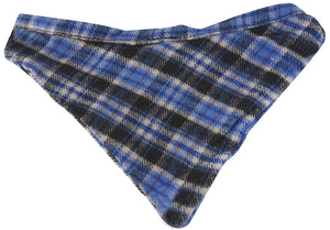 Blue Plaid Dog Bandana Small