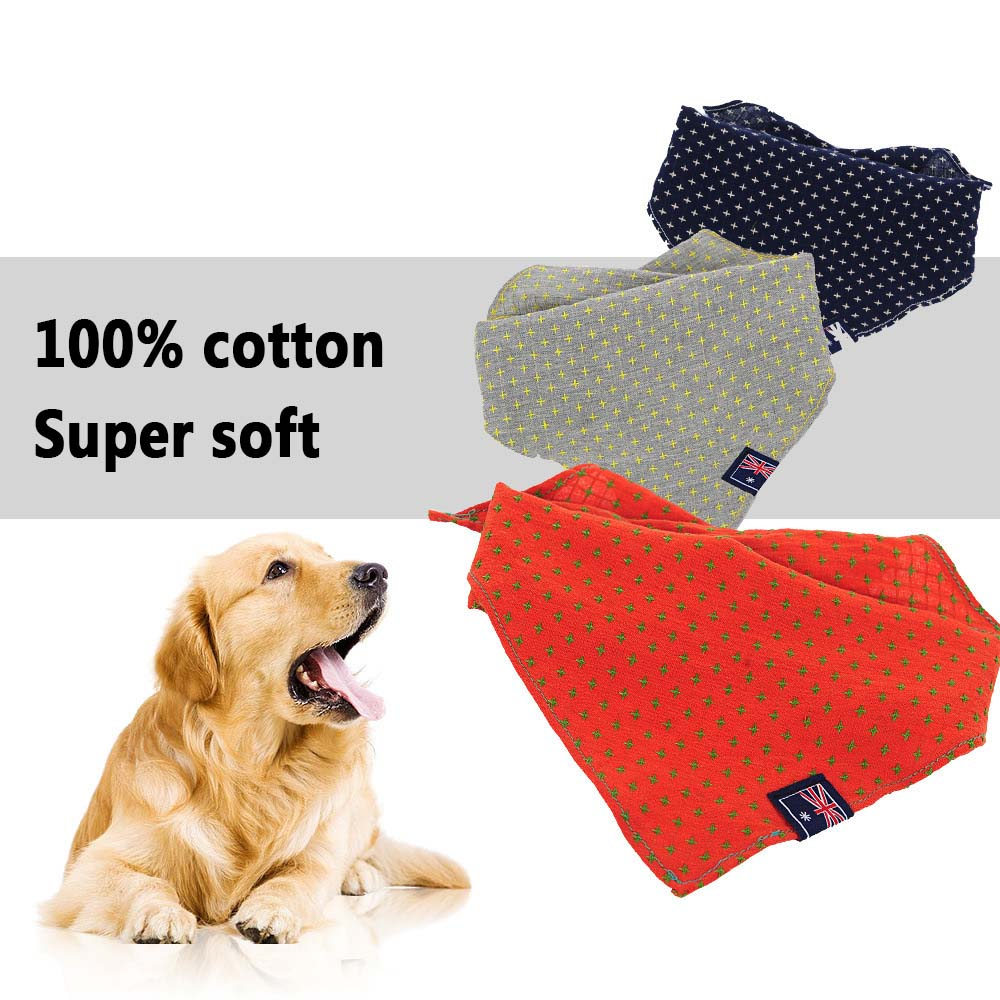Cotton Small big dog cat pet Neckerchief collar Scarf dog Bib Bandana Accessories dog puppy collar golden retriever dog collar