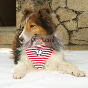 Strip sailor Small big dog cat pet Neckerchief collar Scarf costume dog Bib Bandana dog collar golden retriever dog collar