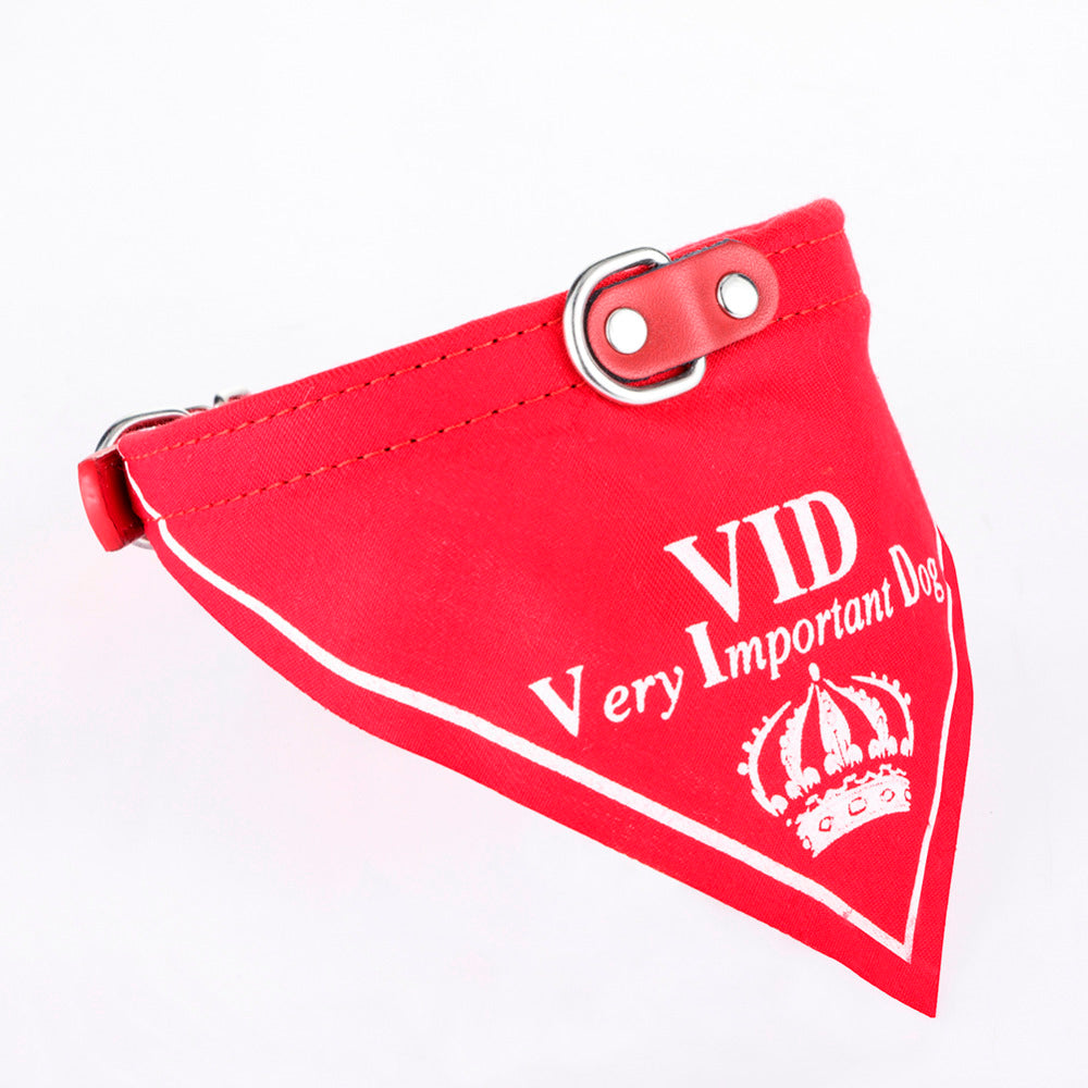 VID Crown Style Pet Collar Classic Dog Bandanas for Small Dogs Adjustable for Dogs Cats