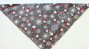 Santa Dog Bandana, Christmas Dog Bandana, Holiday Dog Bandana, Pet Bandana, Dog Bandana, Cotton Dog Bandana, Winter Dog Bandana, Dog Scarf