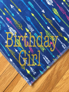 "Customized ""Birthday Girl"" Dog Bandana! 1"