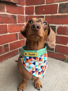 Multi Coloured Geometric Dog Bandana