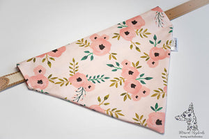 Personalized Flower Dog Bandana Over the Collar Bandana