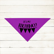 NEW! 19 Colors! 3 Sizes - It's My Birthday Cute Dog Party Bandana