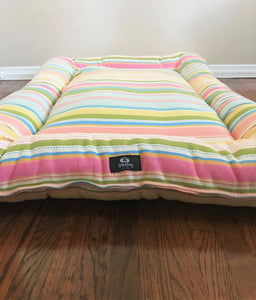 Pretty In Pink Multi Stripe Pink Dog Bed