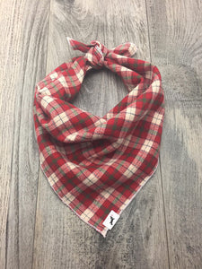 Holiday Flannel Plaid Dog Bandana (Thin Striped)