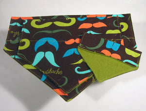 Moustache Mania Hip Dog Bandana