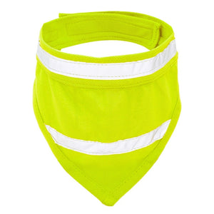 Reflective Dog Bandana Breathable Collar Yellow Orange S M L