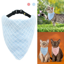 Breathable Dog Bandana Mesh Scarf Plaid Star Collar for Small Medium Pet Chihuahua Pink Blue