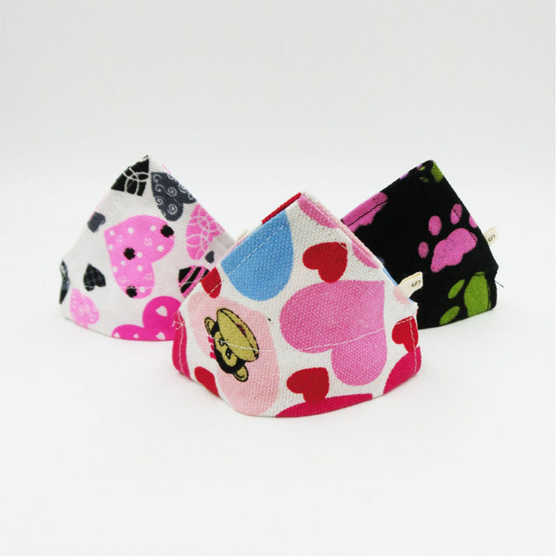 Adjustable Dog Neck Scarf Bandana Collar