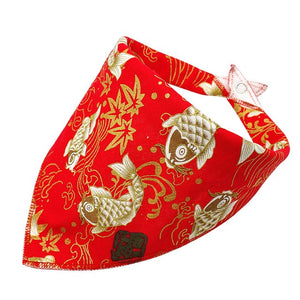 Flower Design Collar Dog Scarf Bandanas Adjustable for Dogs