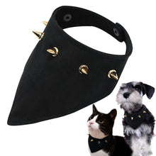 Dog Bandana Spikes Studded Collar