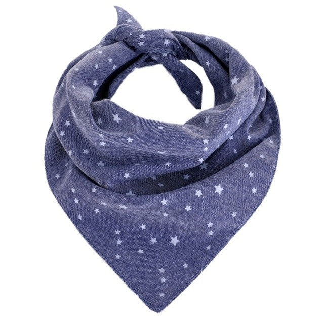 Snowflake Dog Scarf Bandana Adjustable Tie On