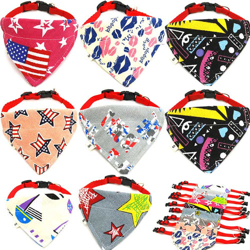 1 Pcs Pet Dog Saliva Towel Bandana Collar Adjustable