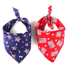 Cotton Pet Dog Bandana Scarf Washable And Reusable Double Sides Patterns