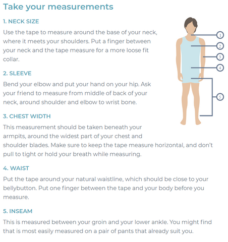 Men How to measure clothing size