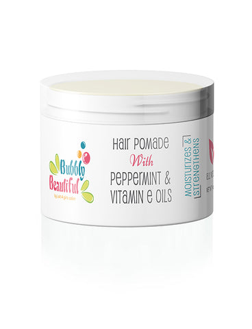 All Natural Hair Pomade with Peppermint & Vitamin E Oils (4 oz)