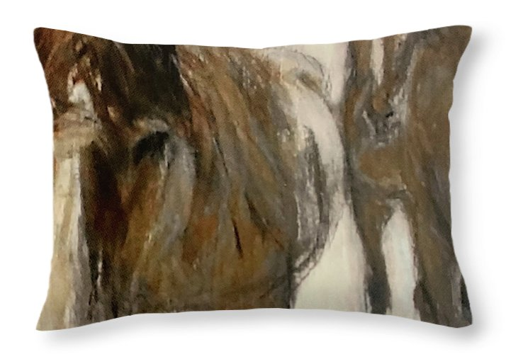 Horses - Throw Pillow